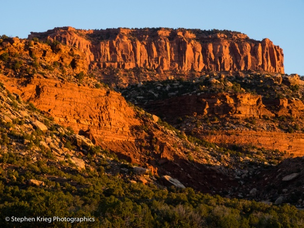 Sunrise on Red House Cliffs, San Juan County, Utah.